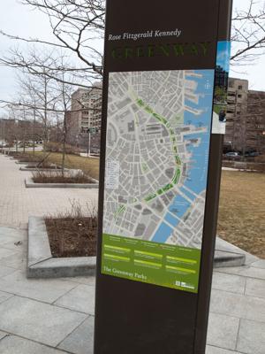 The Greenway Runs Through Downtown Boston