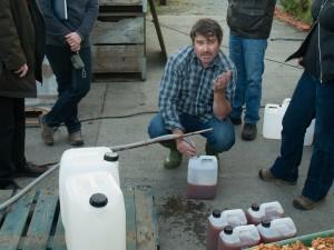 Decanting Freshly Pressed Cider
