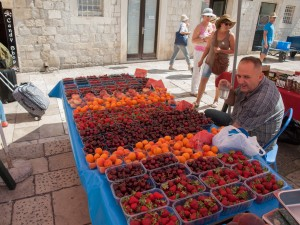 Fruit Stand in Old Town Dubrovnik
