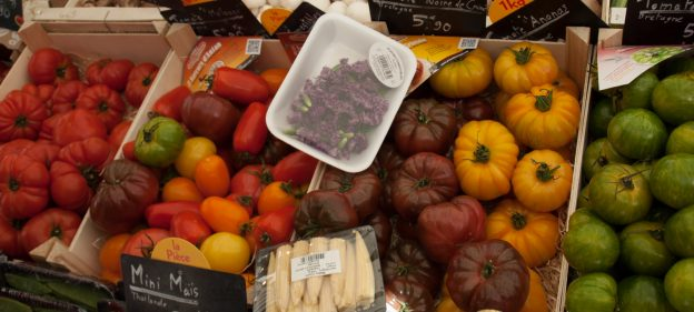 Heirloom Tomatoes at Baudoyer Market in Paris