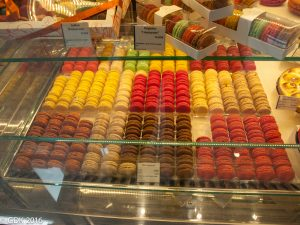 Macaroons in a Parisian Market