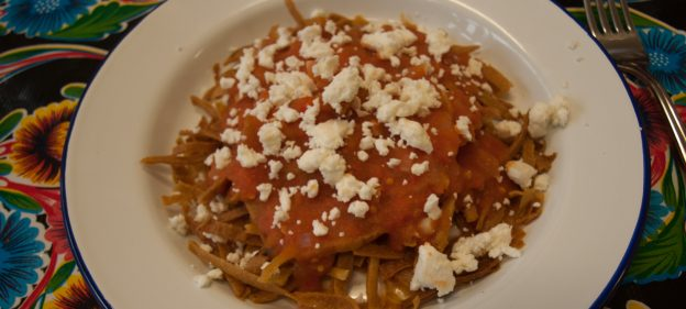 chilaquiles at Picado Mexican Grocery