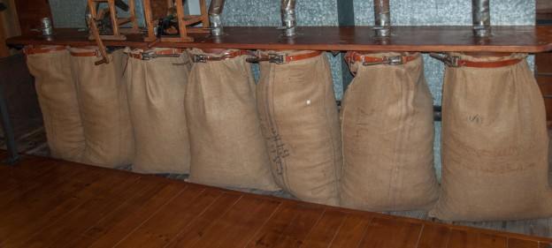 Bags of Rice at the Museum of Rice in Valencia, Spain