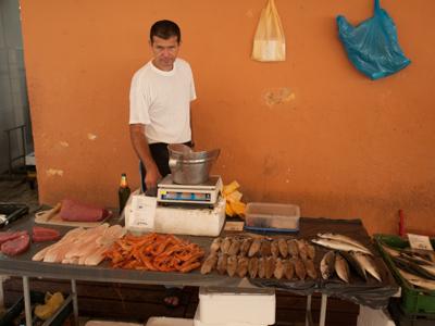 Fishmonger in Split, Croatia