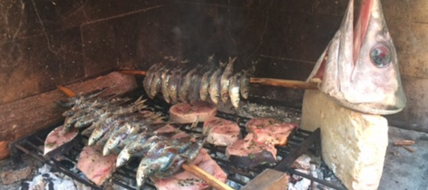 Fish on the Grill in Trogir, Croatia